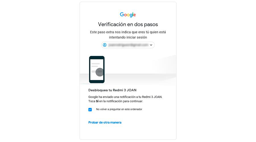 verificacion google