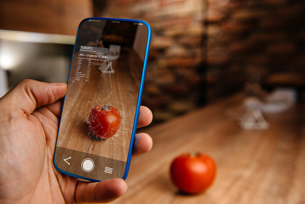 Smartphone ussing augmented reality softwarer