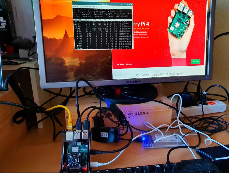 ordenador con raspberry pi 4