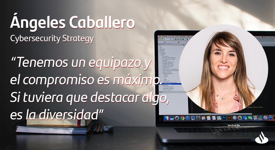 Angeles Caballero ciberseguridad influencer españa en grupo santander