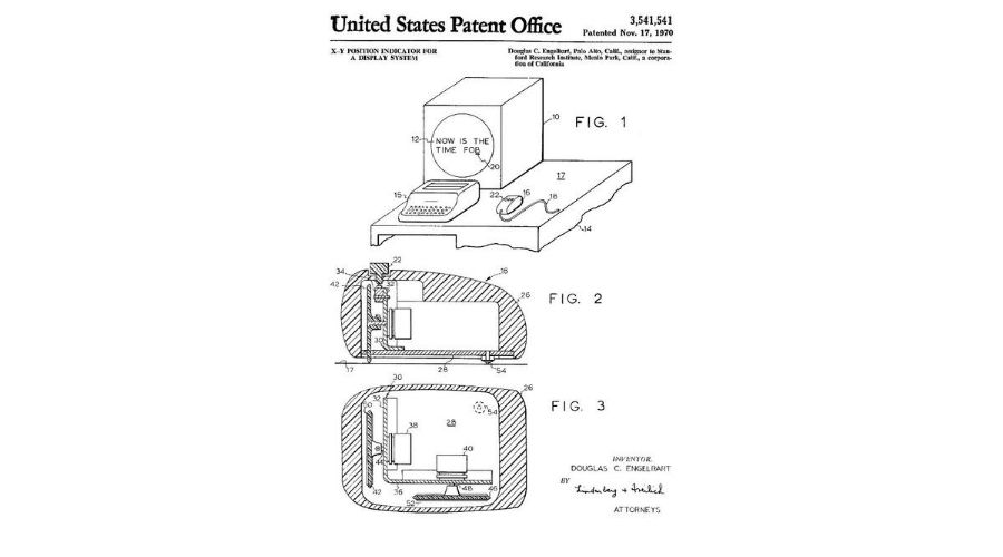 First mouse patent in 1967