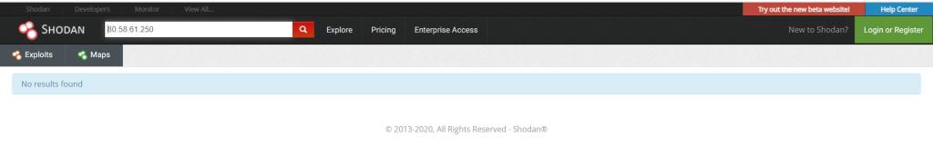 Busca tu IP en el buscador de Shodan