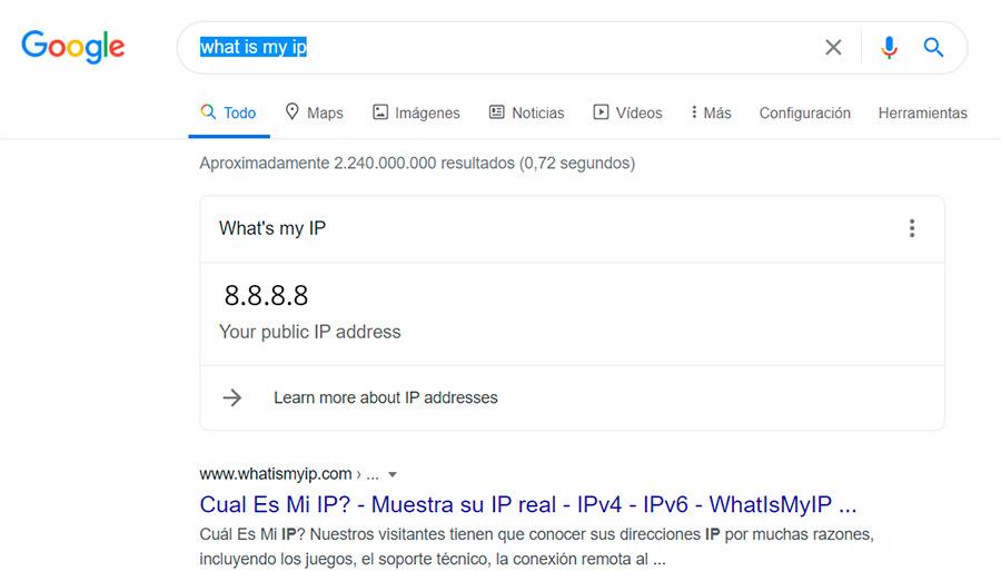 what is my ip busqueda en google