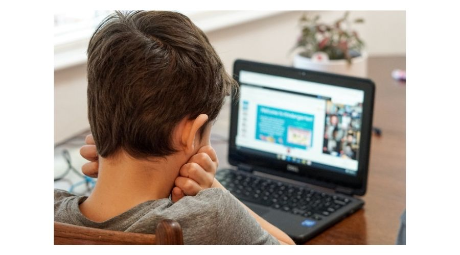 Kid with a computer