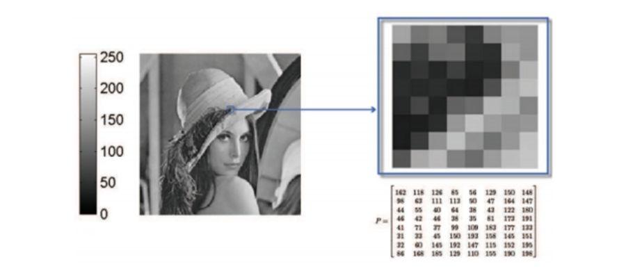 Representación de escala de grises de una imagen