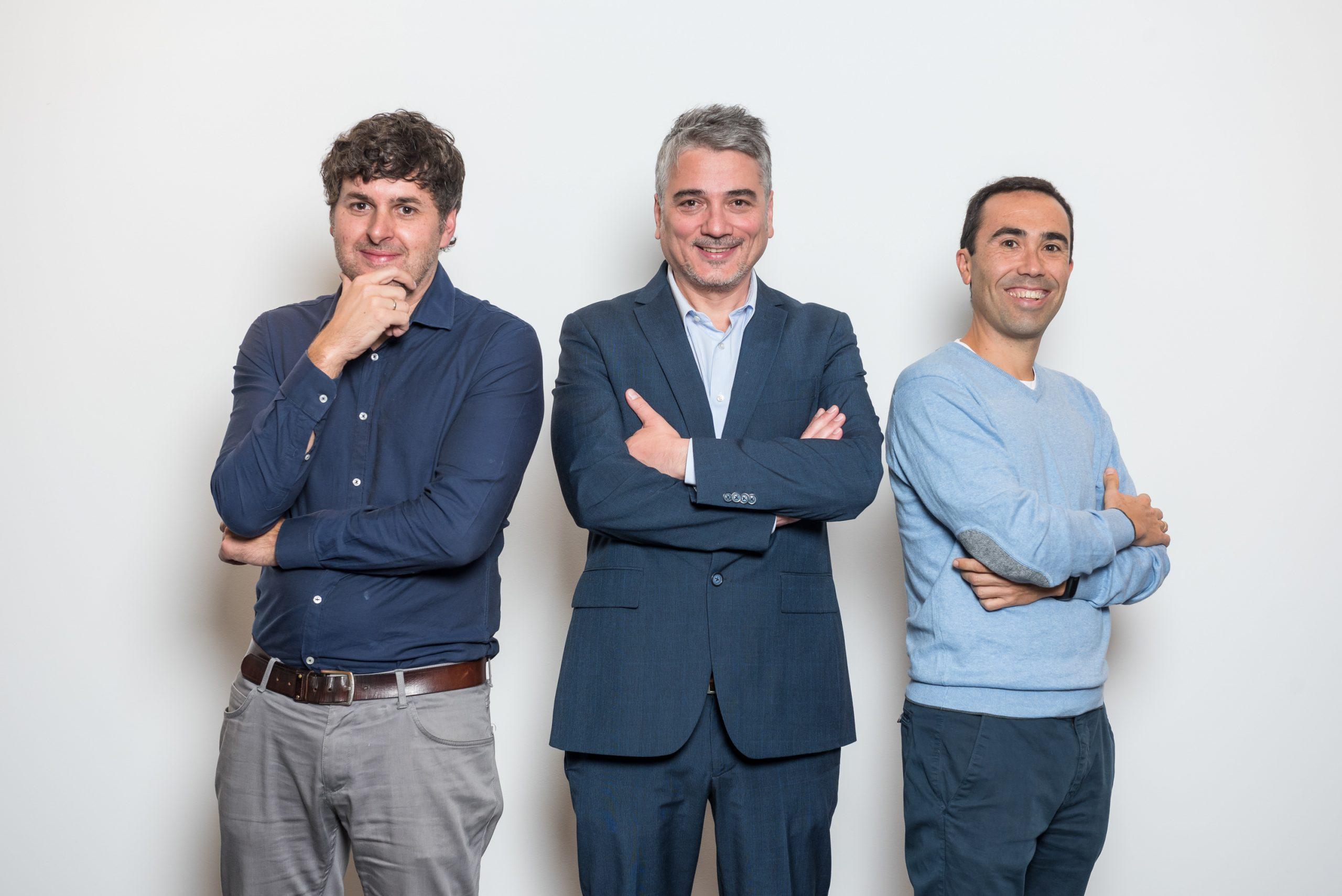 David Gil-Esteban, Manuel Medina y Sergio Cabrera